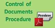 Control of Documents procedure, free preview