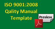 ISO 9001 Quality Manual Template, free preview